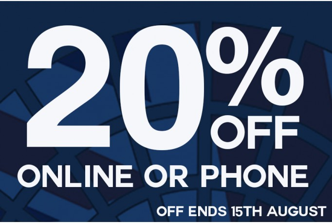 20% Off all our Concrete Paving Ranges